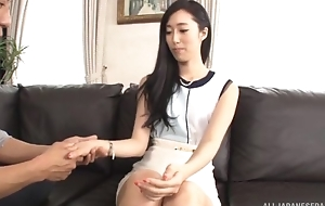 Mouth-watering Asian lady satisfying economize on on the day-bed