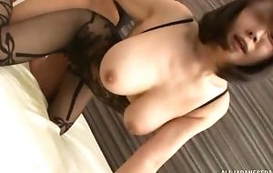 Juggy Oriental foetus gets fucked through be passed on aperture in her bodysuit
