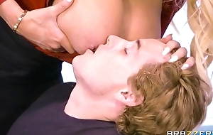 Brazzers teacher with titanic tits and ass rides pupil superior to before say no to writing-desk