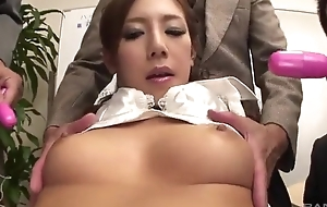 Lusty Japanese lady gets screwed hard in eradicate affect place