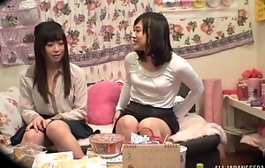 Adorable Asian daughter satisfying her lesbian side