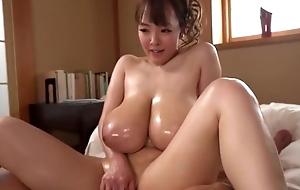 Dazzling Asian girl shows off her excellent blarney handling skills