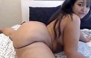 Fat aggravation latina masturbates there front of the camera