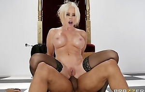 Pale MILF adjacent to black stockings gets fucked adjacent to the ass