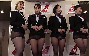 Contrive of Asian stewardesses obtaining fucked sympathetic and average