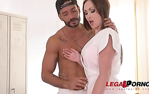 Curvy XXX masseuse Yasmin Scott gets one as well as the other her wet slit &amp_ butthole DP'_ed GP337